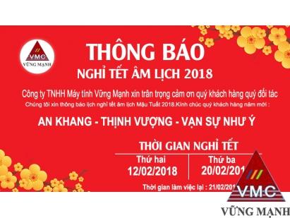 Thông báo nghỉ Tết Nguyên Đán năm Mậu Tuất 2018