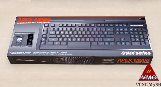 Bàn phím cơ SteelSeries Apex M800: Chất nhưng chưa rẻ