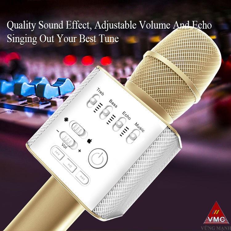 micgeek q9 micro hat karaoke kiem loa bluetooth cho dien thoai, may tinh bang- cac nut dieu khien
